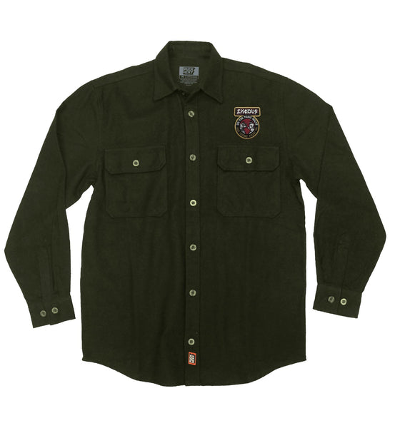 EXODUS 'TOXIC WATLZ' flannel in military green