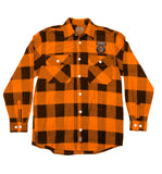 EXODUS 'TOXIC WALTZ' flannel in orange plaid