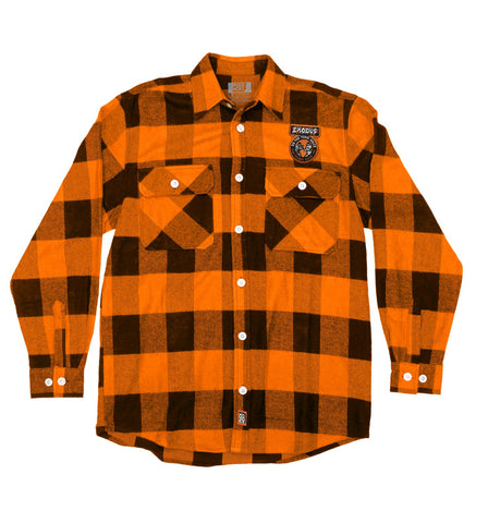 EXODUS 'BONDED BY PUCK' HOCKEY FLANNEL (red plaid)