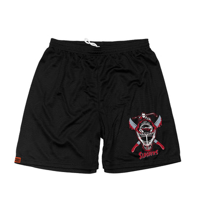 FIRST JASON 'OFF-ICE mesh hockey shorts in black