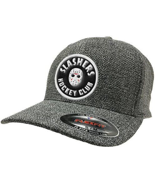 FIRST JASON 'SLASHING MAJOR' trucker hockey cap in heather grey