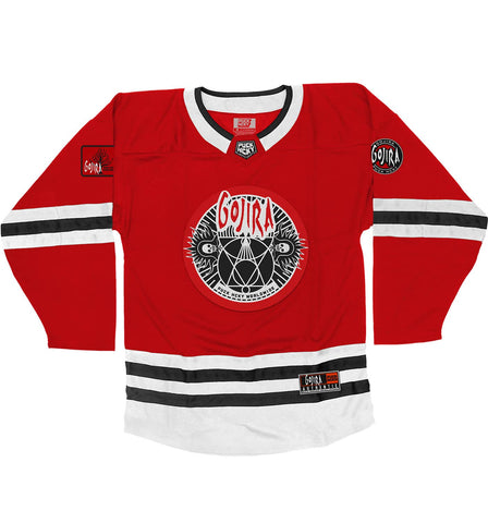 GOJIRA 'A SKATE TO BEHOLD' DELUXE HOCKEY JERSEY (RED)