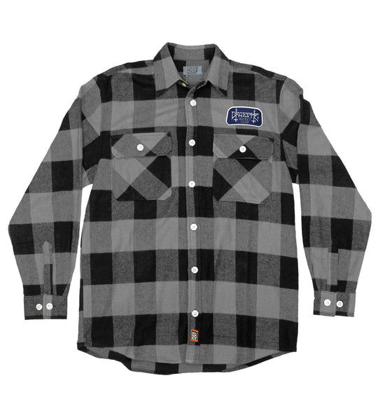 GRUESOME 'HOCKEY CLUB' hockey flannel in grey plaid