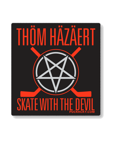 THOM HAZAERT 'SKATE WITH THE DEVIL' HOCKEY PATCH