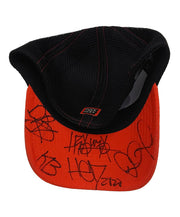 (HED)P.E. 'OFFICIAL PUCK' LIMITED EDITION stretch mesh hockey cap in white, orange and black with contrast stitching signed