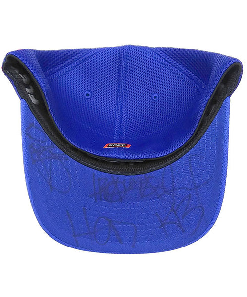 (HED)P.E. 'OFFICIAL PUCK' LIMITED EDITION mesh back hockey cap in royal blue signed
