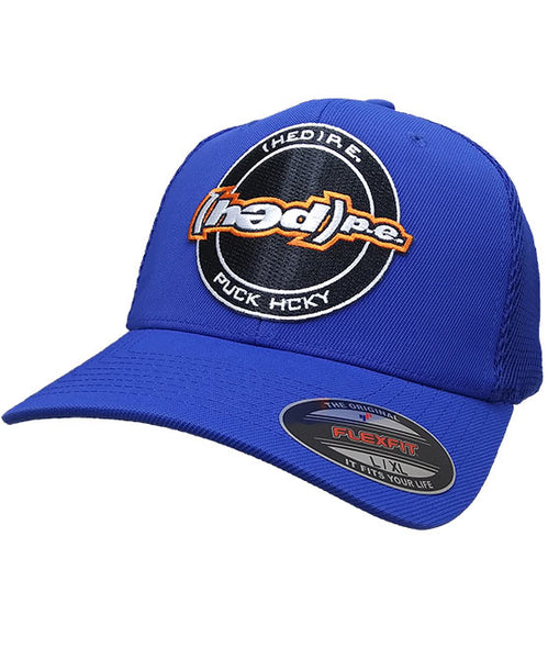 (HED)P.E. 'OFFICIAL PUCK' mesh back hockey cap in royal blue