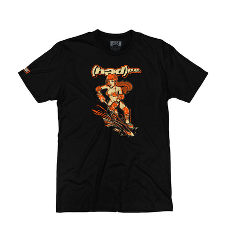 (HED)P.E. 'SKULLY' HOCKEY T-SHIRT (orange/cream skull)