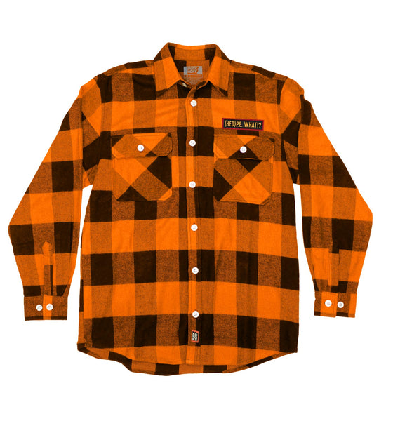 (HED)P.E. 'WHAT' hockey flannel in orange plaid
