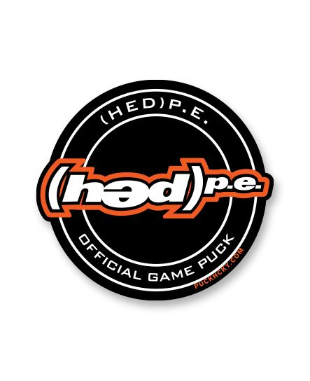 (HED)P.E. 'OFFICIAL PUCK' hockey sticker
