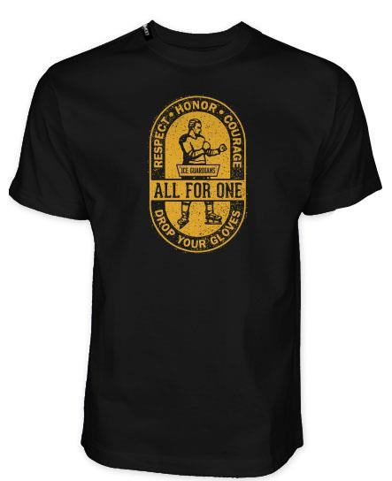 ICE GUARDIANS 'ALL FOR ONE' short sleeve hockey t-shirt in black