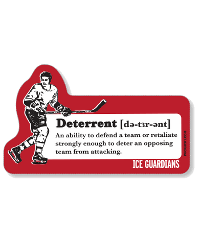 ICE GUARDIANS 'RESPECT THY OPPONENT' HOCKEY STICKER