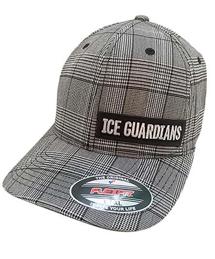 ICE GUARDIANS 'GO PLAID' fitted hockey cap in grey plaid