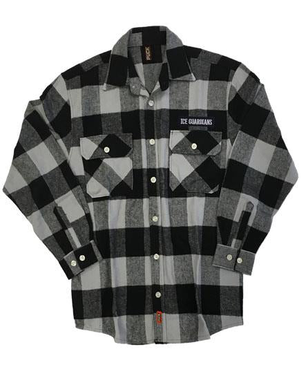 ICE GUARDIANS 'STAND GUARD' hockey flannel in grey plaid