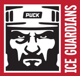 ICE GUARDIANS 'THE SHINING' short sleeve hockey t-shirt design close-up