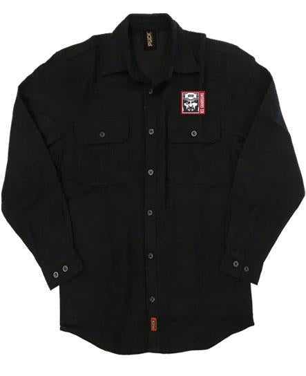 ICE GUARDIANS 'THE SHINING' hockey flannel in solid black