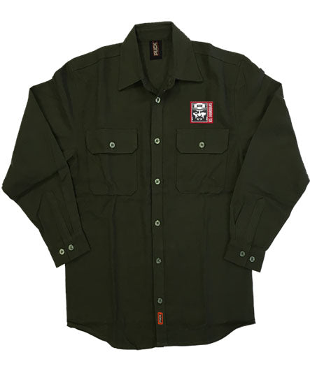 ICE GUARDIANS 'THE SHINING' hockey flannel in olive green