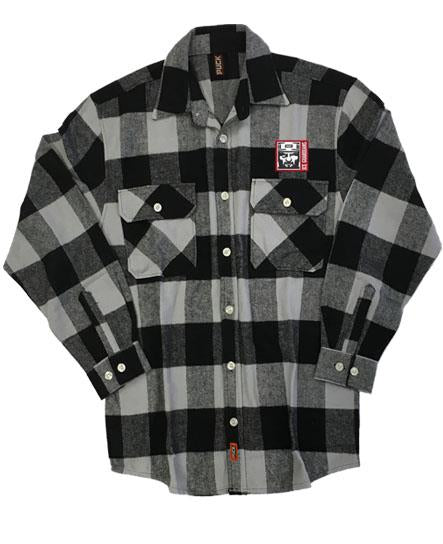 ICE GUARDIANS 'THE SHINING' hockey flannel in grey plaid