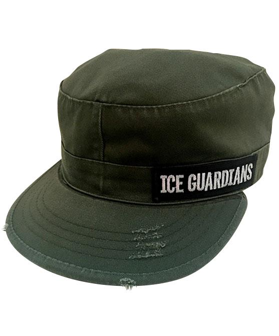 ice-guardians-vintage-fatigue-cap-green-front