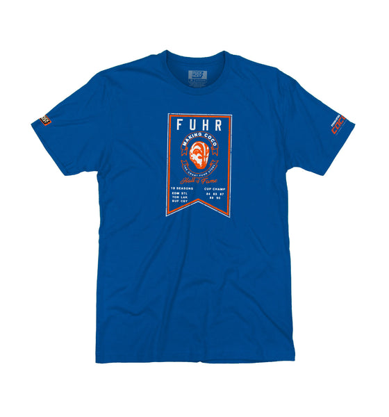 MAKING COCO 'FROM THE RAFTERS' short sleeve hockey t-shirt in royal