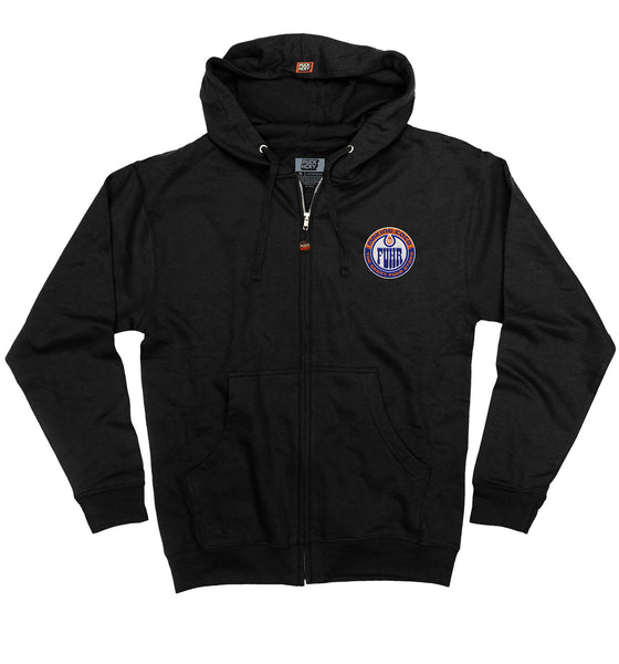 MAKING COCO 'FUHR' full zip hockey hoodie in black