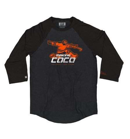 MAKING COCO 'FIVE TIMES' HOCKEY RAGLAN