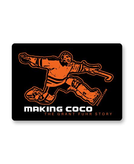 MAKING COCO 'KICK SAVE' hockey sticker