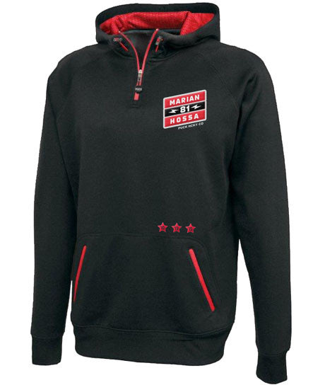 MARIAN HOSSA 'SIGNATURE' 1/4 zip pullover hockey jacket with hood
