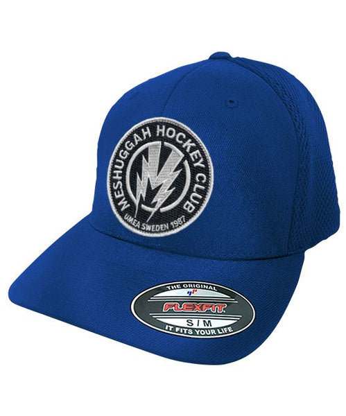 MESHUGGAH 'BOLT' mesh back hockey cap in royal blue