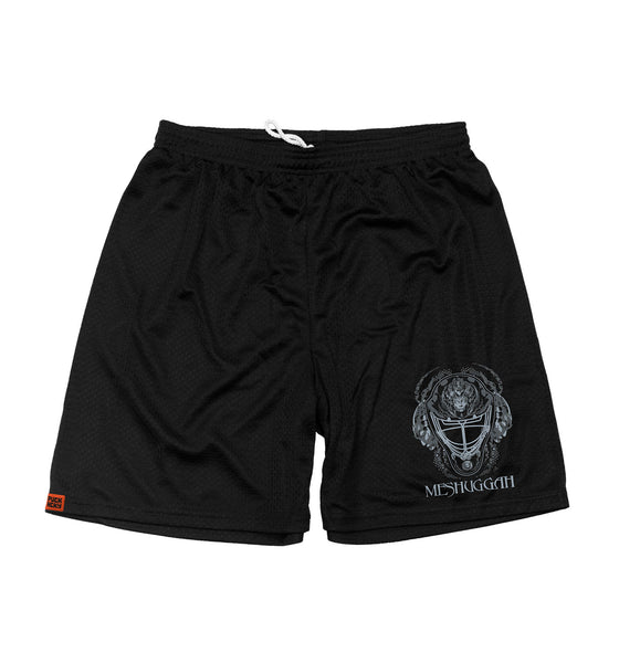 MESHUGGAH 'OFF-ICE mesh hockey shorts in black