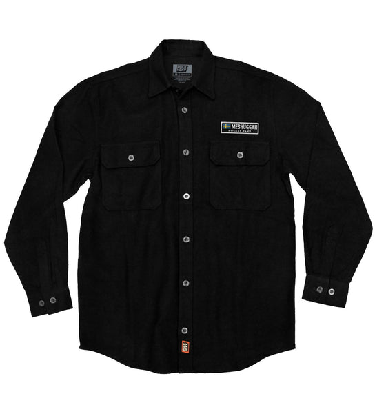 MESHUGGAH 'SVERIGE' hockey flannel in solid black