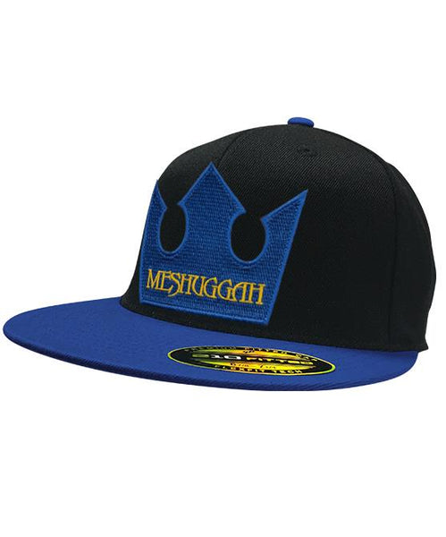 MESHUGGAH 'TRE KRONOR' flat bill hockey cap in black with royal blue bill