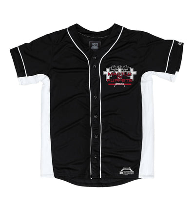 METALLICA 'MASTER OF PUPPETS' short sleeve spring league jersey in black and white front view