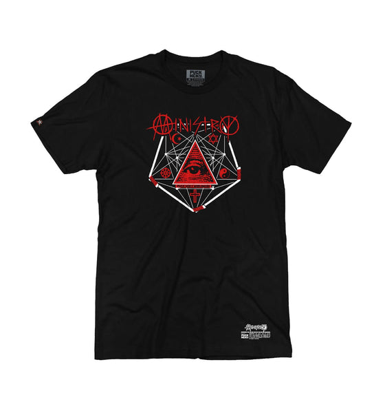MINISTRY 'PENTA-PUCK' short sleeve hockey t-shirt in black