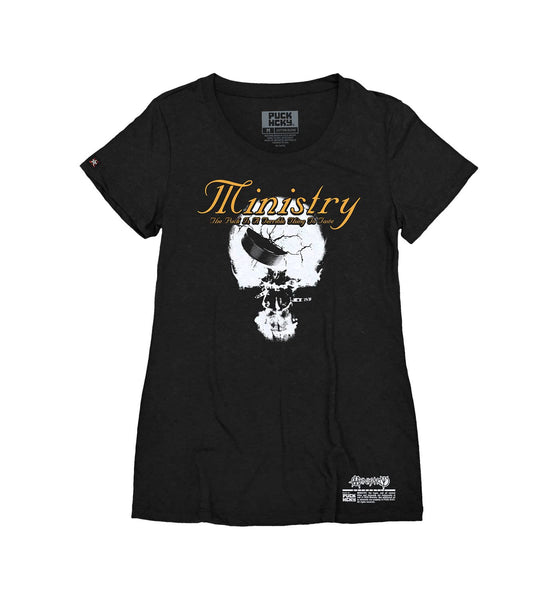 MINISTRY 'TERRIBLE THING TO TASTE' women's short sleeve hockey t-shirt in black