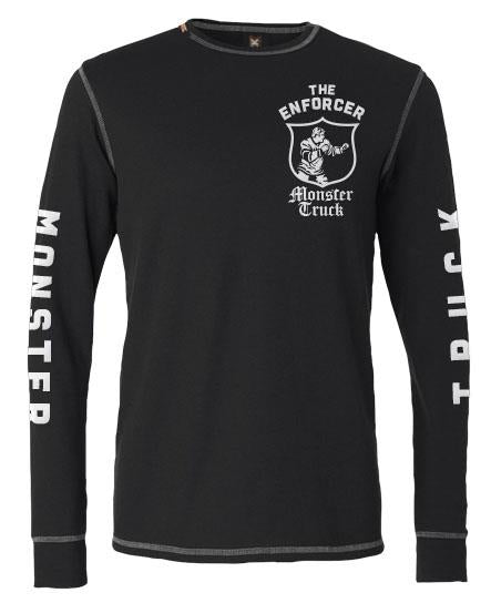 MONSTER TRUCK 'THE ENFORCER' hockey thermal t-shirt front view