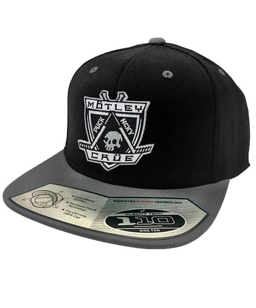 MOTLEY CRUE 'HOCKEY CLUB' snapback hockey cap in black with grey brim