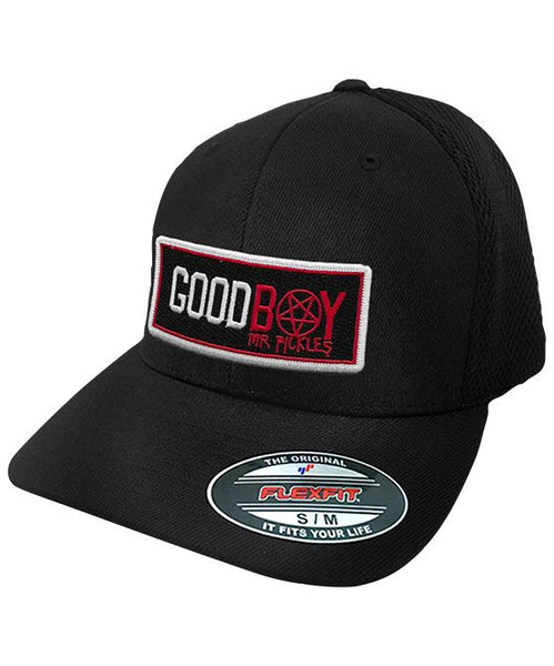 MR. PICKLES 'GOOD BOY' mesh back hockey cap in black