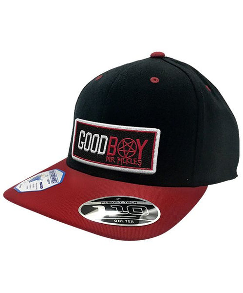 MR. PICKLES 'GOOD BOY' snapback hockey cap in black and red