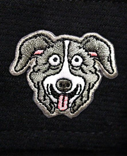 MR. PICKLES 'OLD TOWN HOCKEY CLUB 666 EDITION' hockey flannel in black patch close up