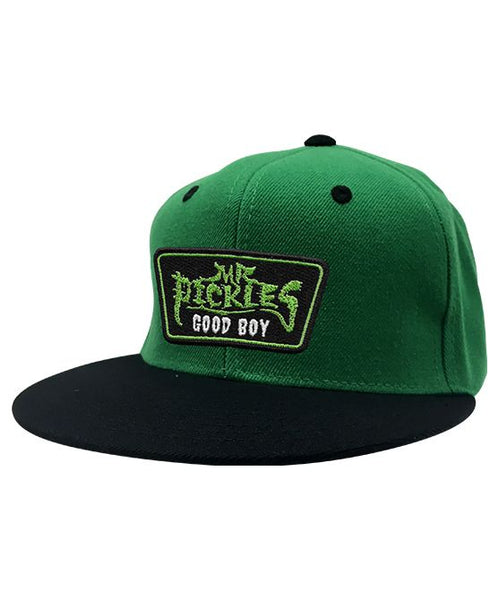 MR. PICKLES 'OLD TOWN HOCKEY CLUB' flat bill snapback hockey cap in green with black bill