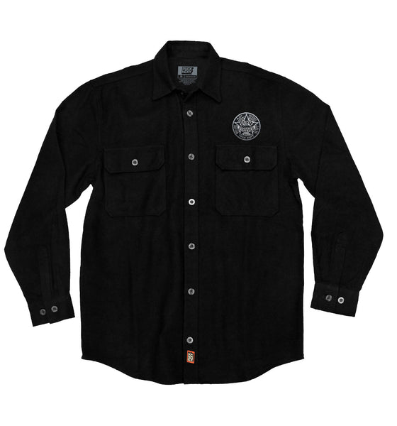 NUCLEAR BLAST 'FIERCELY INDEPENDENT' hockey flannel in solid black