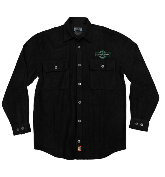 NUCLEAR BLAST 'HOCKEY CLUB' hockey flannel in solid black
