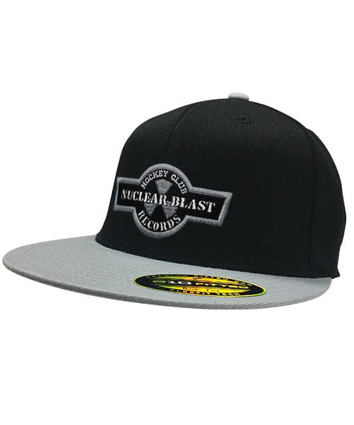NUCLEAR BLAST 'HOCKEY CLUB' flat bill hockey cap in black and grey