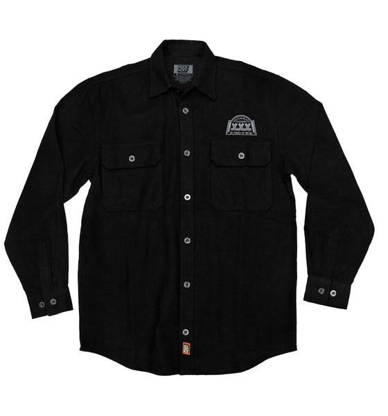 NUCLEAR BLAST 'XXX' hockey flannel in solid black