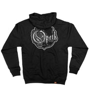 OPETH 'BLACKWATER PUCK' full zip hockey hoodie in black back view
