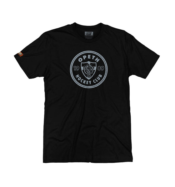 OPETH 'HOCKEY CLUB' short sleeve hockey t-shirt in black