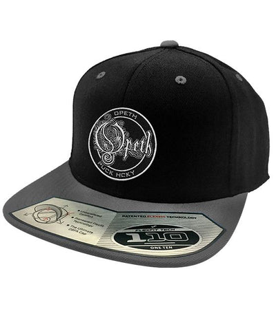 OPETH 'OFFICIAL PUCK' snapback hockey cap in black and grey