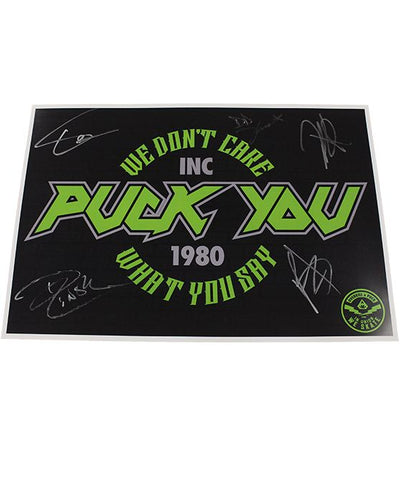 OVERKILL 'DON'T CARE' hockey poster autographed