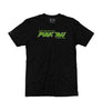 OVERKILL 'DONT' CARE' short sleeve hockey t-shirt in black front view
